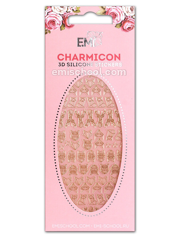 Charmicon 3D Silicone Stickers №74 Животные. Графика