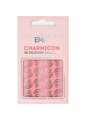 Charmicon 3D Silicone Stickers №116 Лунулы серебро