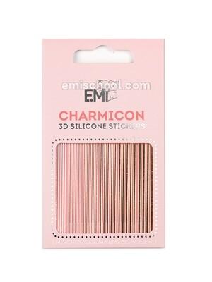 Charmicon 3D Silicone Stickers №117 Линии золото