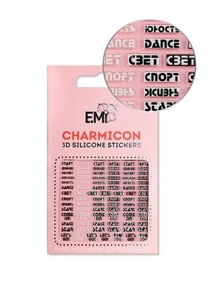 Charmicon 3D Silicone Stickers №132 Слова