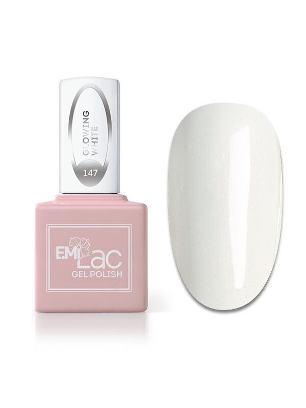 E.MiLac WEC Светящийся белый №147, 6 мл.