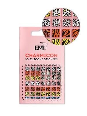 Charmicon 3D Silicone Stickers №130 Зебра