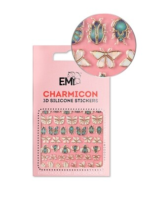 Charmicon 3D Silicone Stickers №135 Насекомые