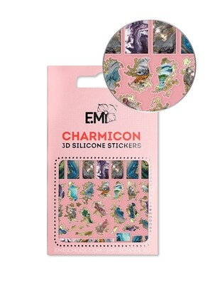 Charmicon 3D Silicone Stickers №142 Мрамор