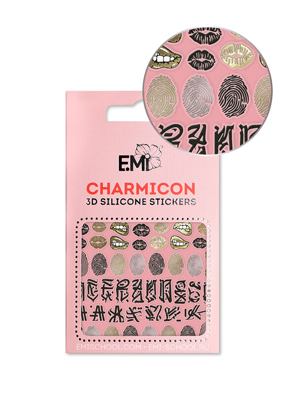 Charmicon 3D Silicone Stickers №146 Отпечатки