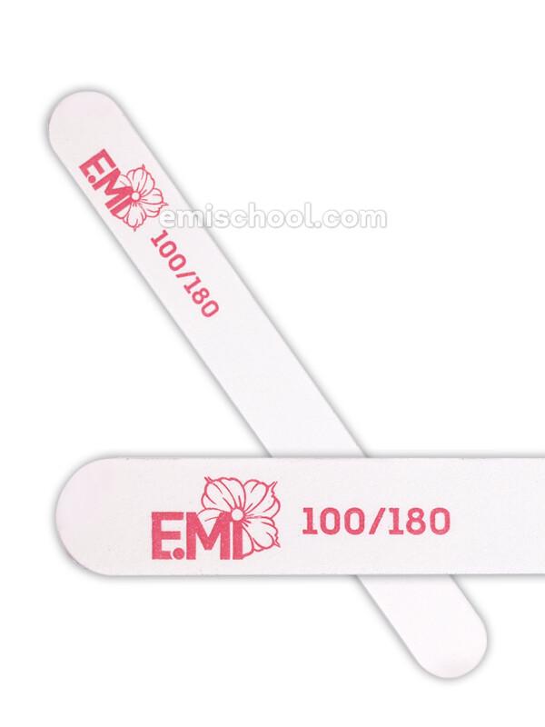 Пилка для искусственных ногтей белая 100/180