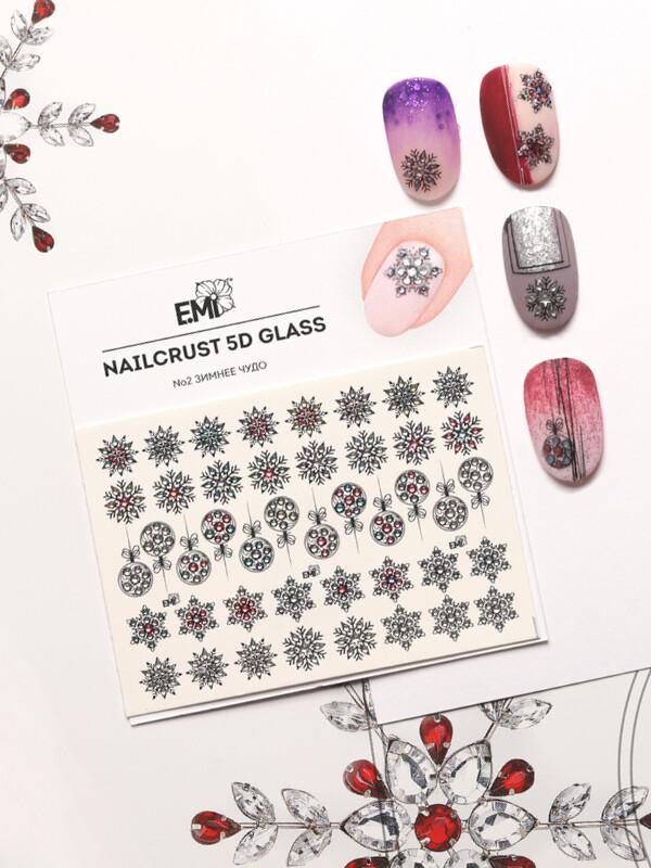 NAILCRUST 5D GLASS №2 Зимнее чудо