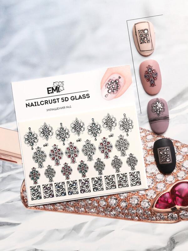 NAILCRUST 5D GLASS Украшения №1