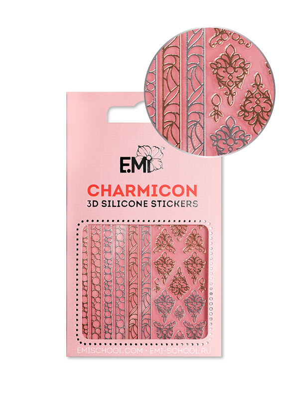Charmicon 3D Silicone Stickers №153 Драгоценности