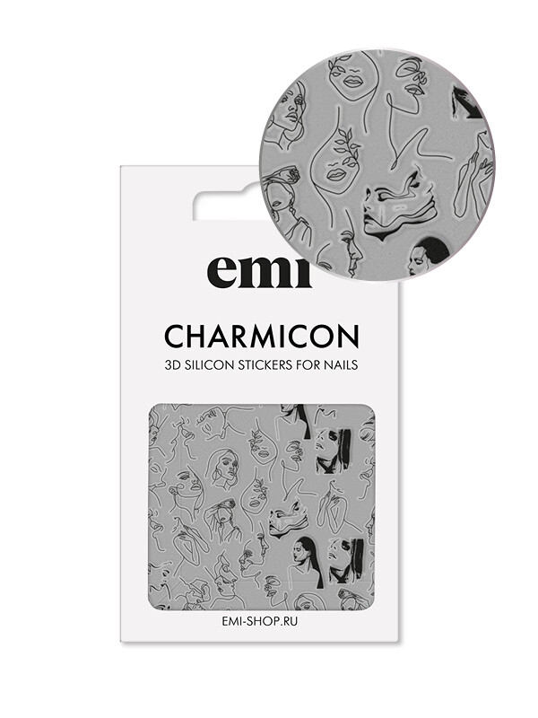 Charmicon 3D Silicone Stickers №172 Скетч