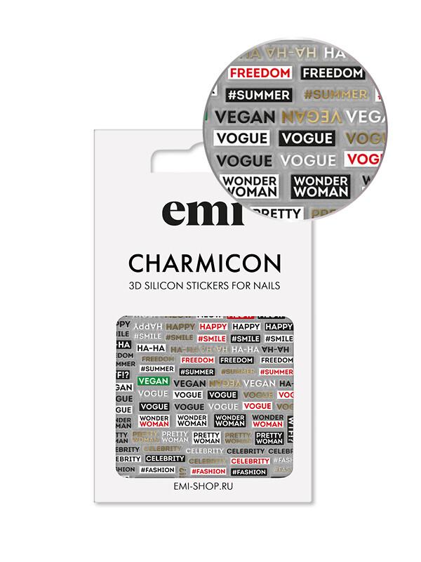 Charmicon 3D Silicone Stickers №179 Фразы