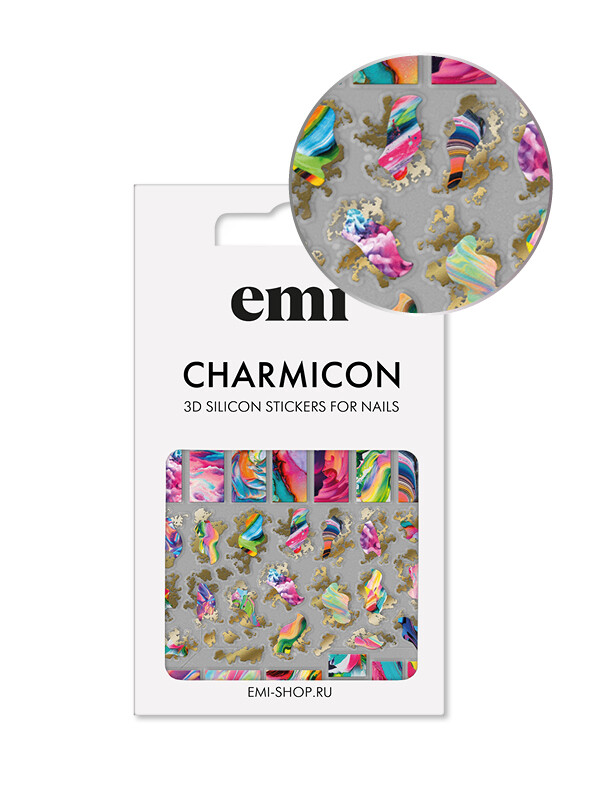 Charmicon 3D Silicone Stickers №166 Аура
