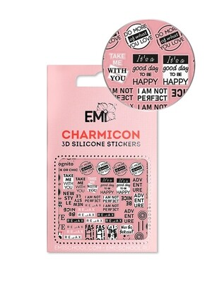 Charmicon 3D Silicone Stickers №144 Be Nice