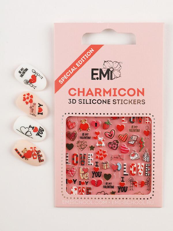 Charmicon 3D Silicone Stickers Любовь
