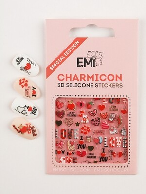 Charmicon 3D Silicone Stickers Любовь