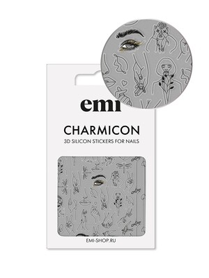 Charmicon 3D Silicone Stickers №173 Силуэты