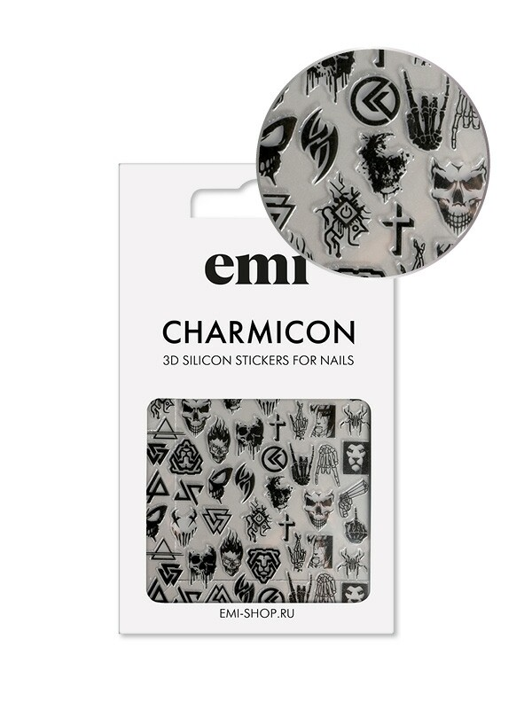 Charmicon 3D Silicone Stickers №182 Готика