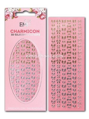 Charmicon 3D Silicone Stickers «Бантики» золото/серебро