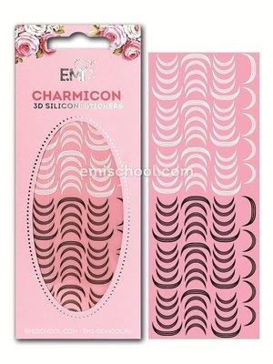 Charmicon 3D Silicone Stickers «Лунулы №12» черные/белые