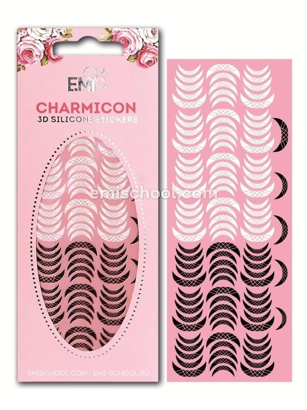 Charmicon 3D Silicone Stickers «Лунулы №14» черные/белые