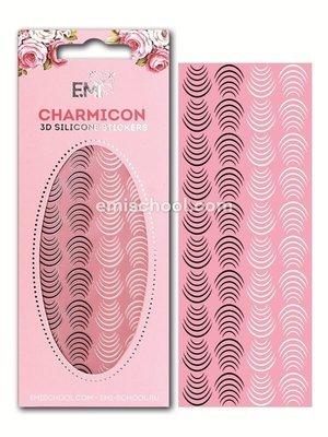 Charmicon 3D Silicone Stickers «Лунулы №26» черные/белые