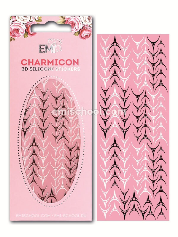 Charmicon 3D Silicone Stickers «Лунулы №30» черные/белые