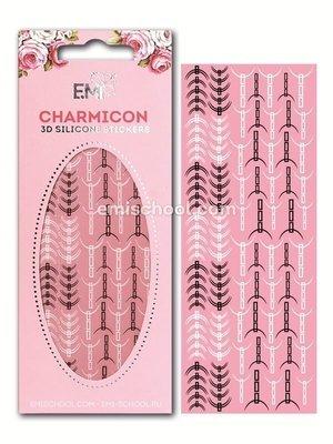 Charmicon 3D Silicone Stickers «Лунулы №32» черные/белые