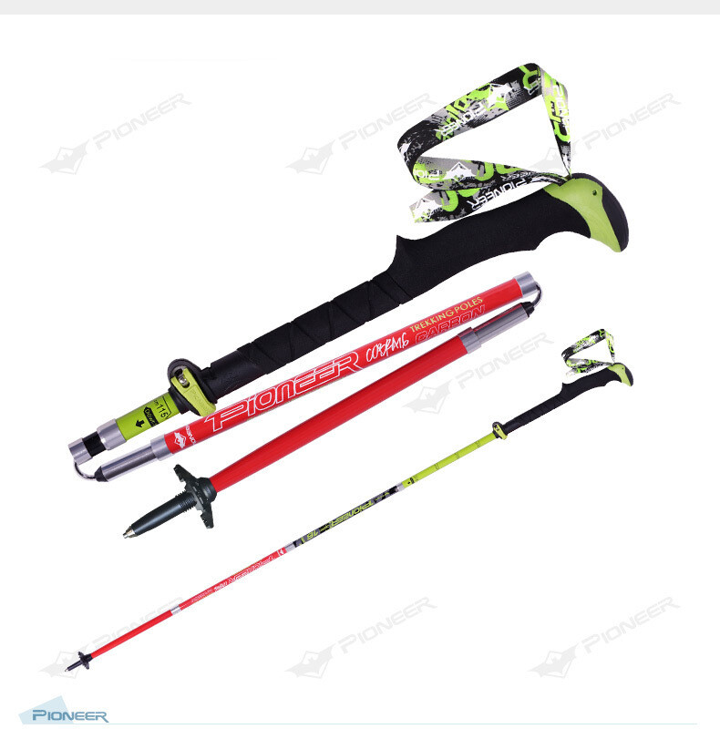 Carbon Adjustable Trekking Poles x 2