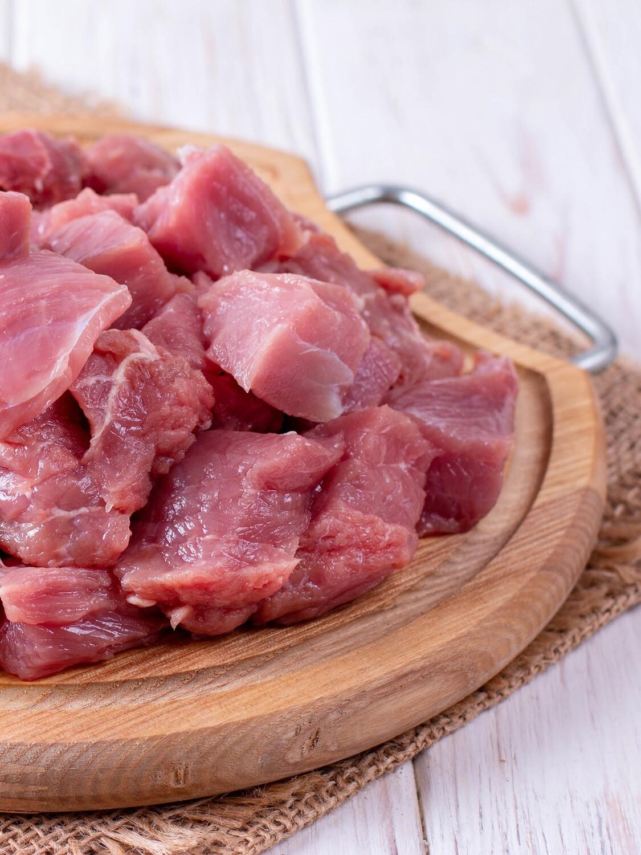 Ragoût de veau coupé