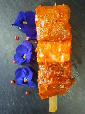 Brochette de canard à l'orange (environ 100 gr.) (France)
