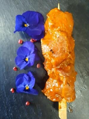 Brochette de poulet miel & Soja (environ 100gr.)  (Suisse)