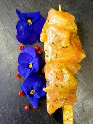 Brochette de poulet à l'ail des ours (environ 100gr.) (Suisse)