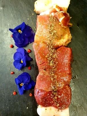 Brochette mixte boeuf-porc aux herbes (environ 180gr.)  (Suisse)