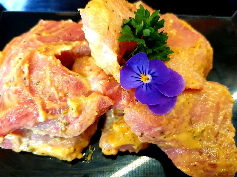 Émincé de porc à la moutarde (Suisse)