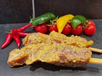 Brochette de porc-moutarde (environ 100gr.)