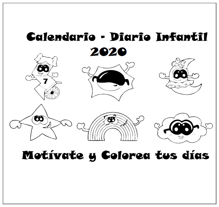 CALENDARIO INFANTIL DESCARGABLE 2020