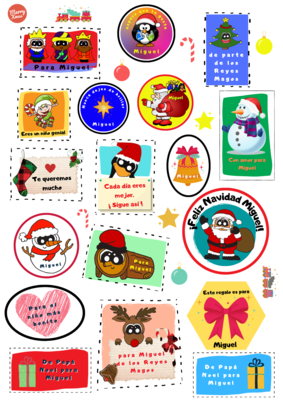 Pegatinas de Navidad personalizadas