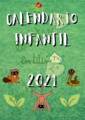 Calendario 2021 para Niños - Mensual