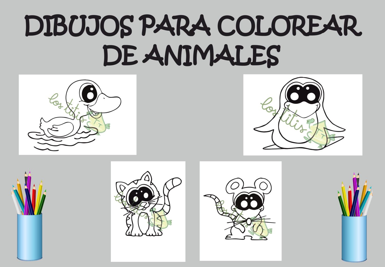 100 ANIMALES PARA COLOREAR