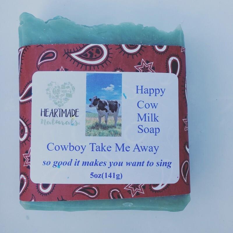 Happy Cow mill soap cowboy take me away 3 bars