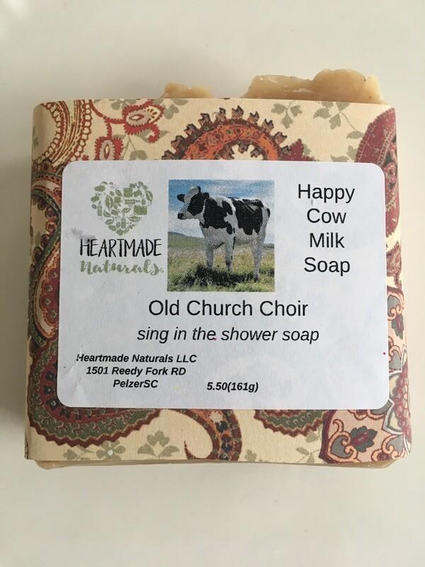 Happy Cow Milk Soap. Old church choir
