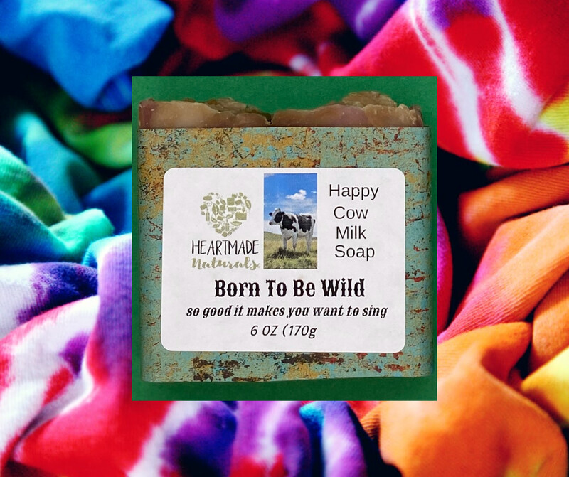Born to be wild happy cow milk soap