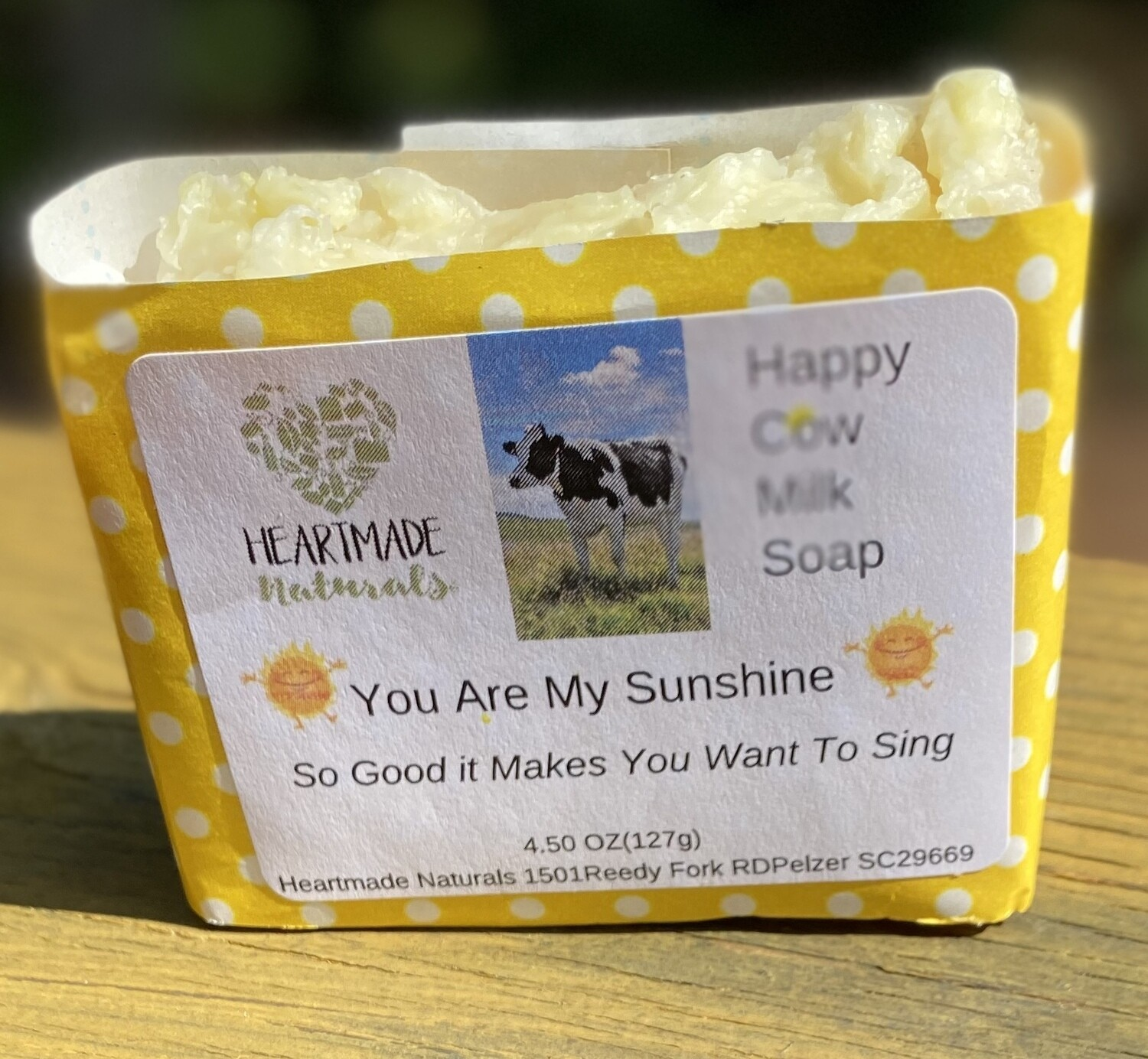 Happy Cow milk Soap. You are my sunshine