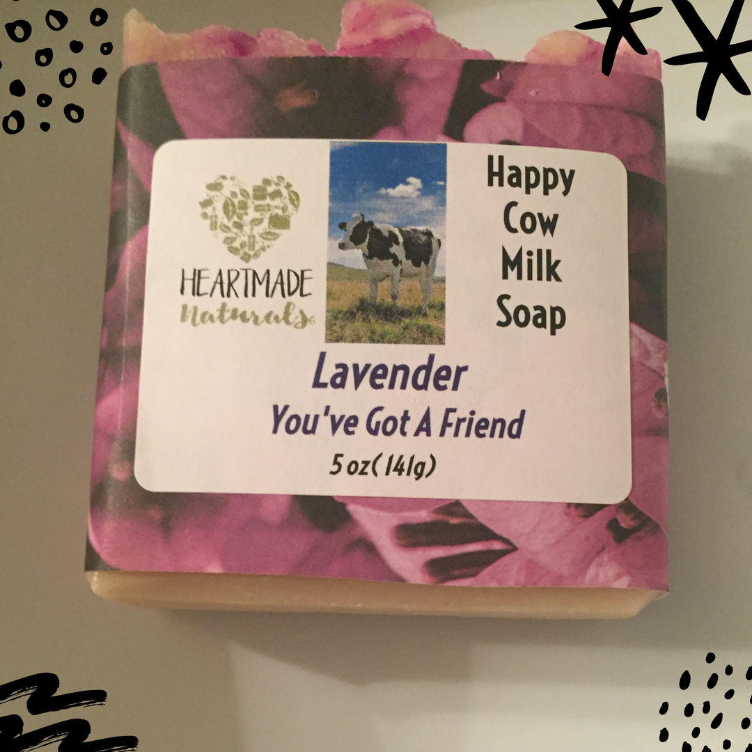Happy Cow Milk soap lavender  - 3 bars of soap@ $7 a bar