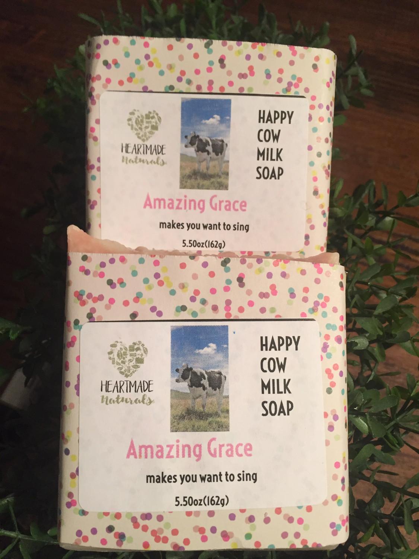 Happy Cow Soap/Amazing Grace -3 bars of soap