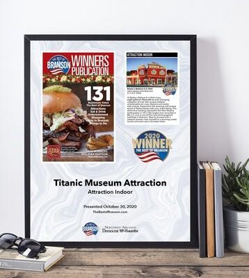Gold Winner Modern Plaque