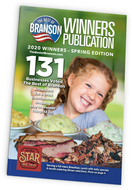 2021 Branson Winners Magazine Spring Edition - Quarter Page