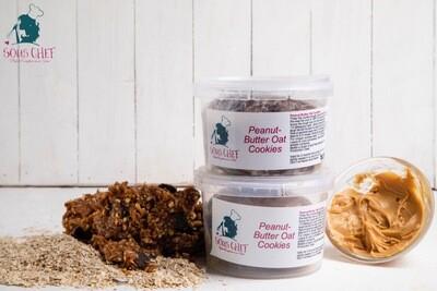 Peanut butter oats cookie dough كوكيز الشوفان وزبدة الفول السوداني