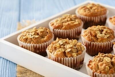 Oatmeal apple muffin batter عجينه مافن الشوفان والتفاح