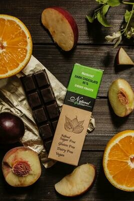 85% Dark chocolate with dried fruits شيكولاته دارك بالفواكه الطبيعيه المجففه